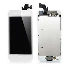 iPhone 5 LCD Assembly White, Complete - OEM