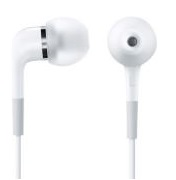 Apple In-Ear Headphones Remote and Mic Kabling Hvid Øreproptelefoner