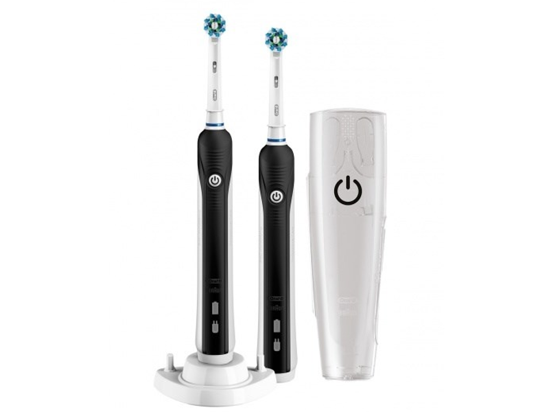 Oral-B Toothbrush PRO 790 Cross Action Electric, Black/white, 1, Number of brush heads included 2
