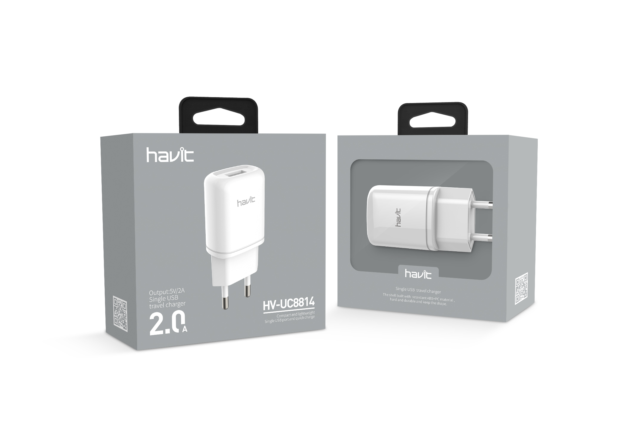 Havit 1 ports USB charger white