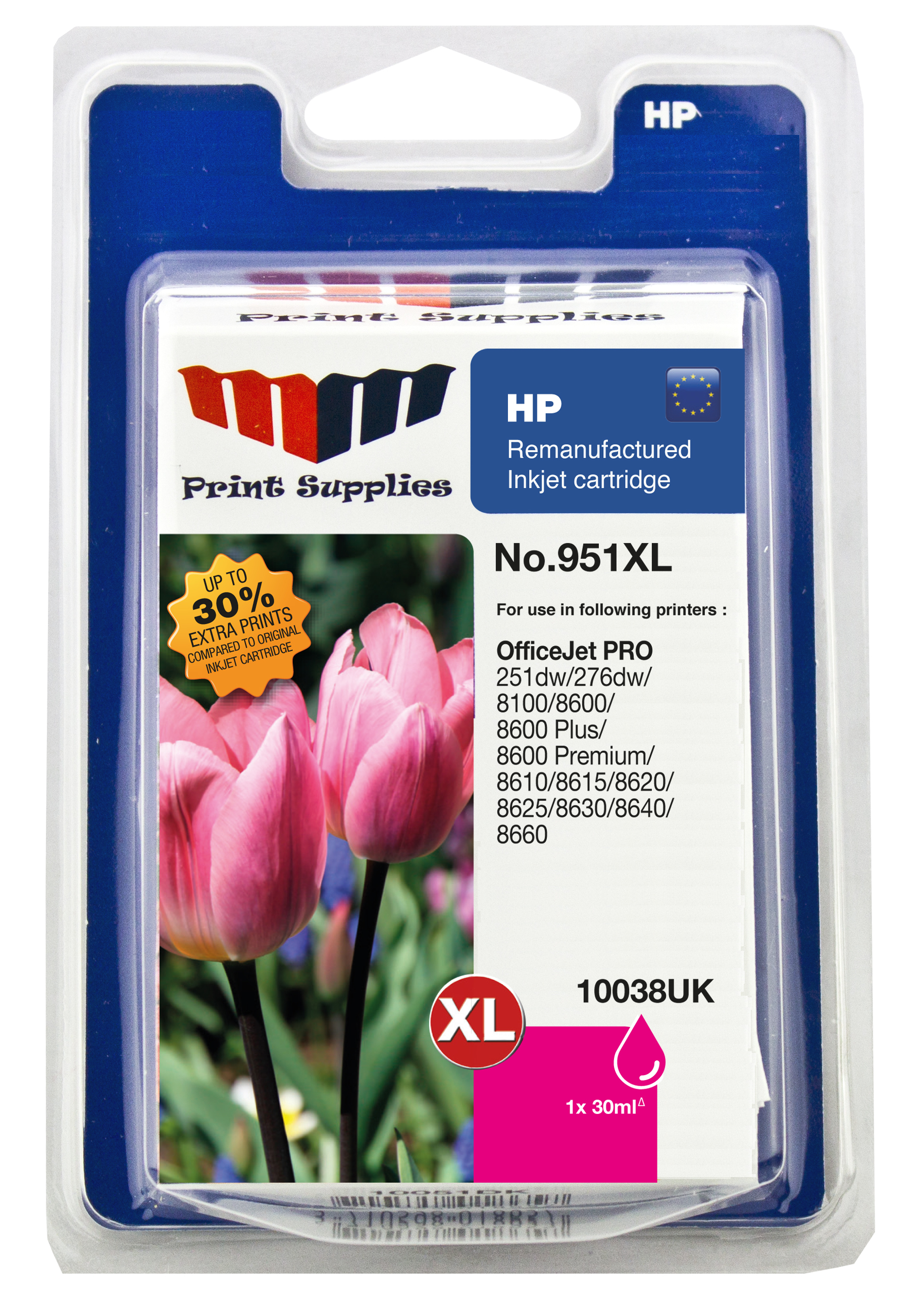 Magenta Inkjet Cartridge No.951XL (CN047AE)