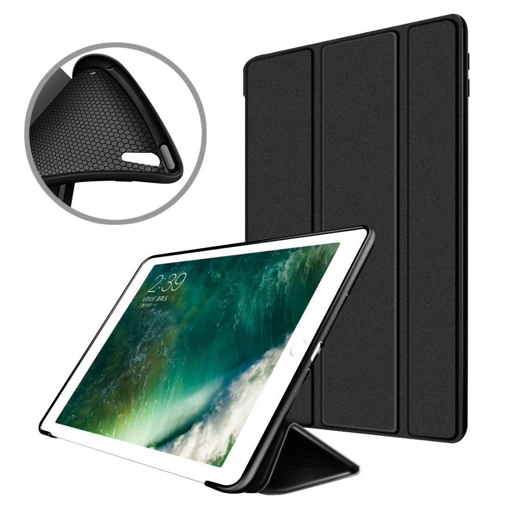 iPad Silicone Soft Smart Cover 2018/2018 Black