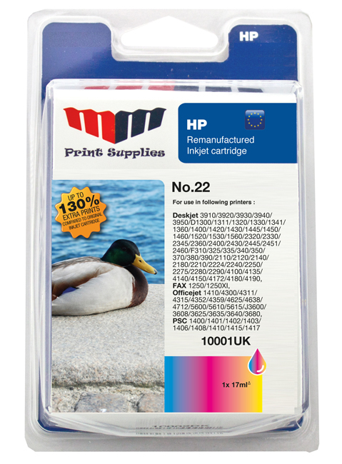 MMPS Color Inkjet Cartridge No.22 HC (C9352AE)