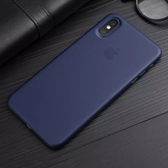 iPhone X Ultra Thin Navy Blue shell cover