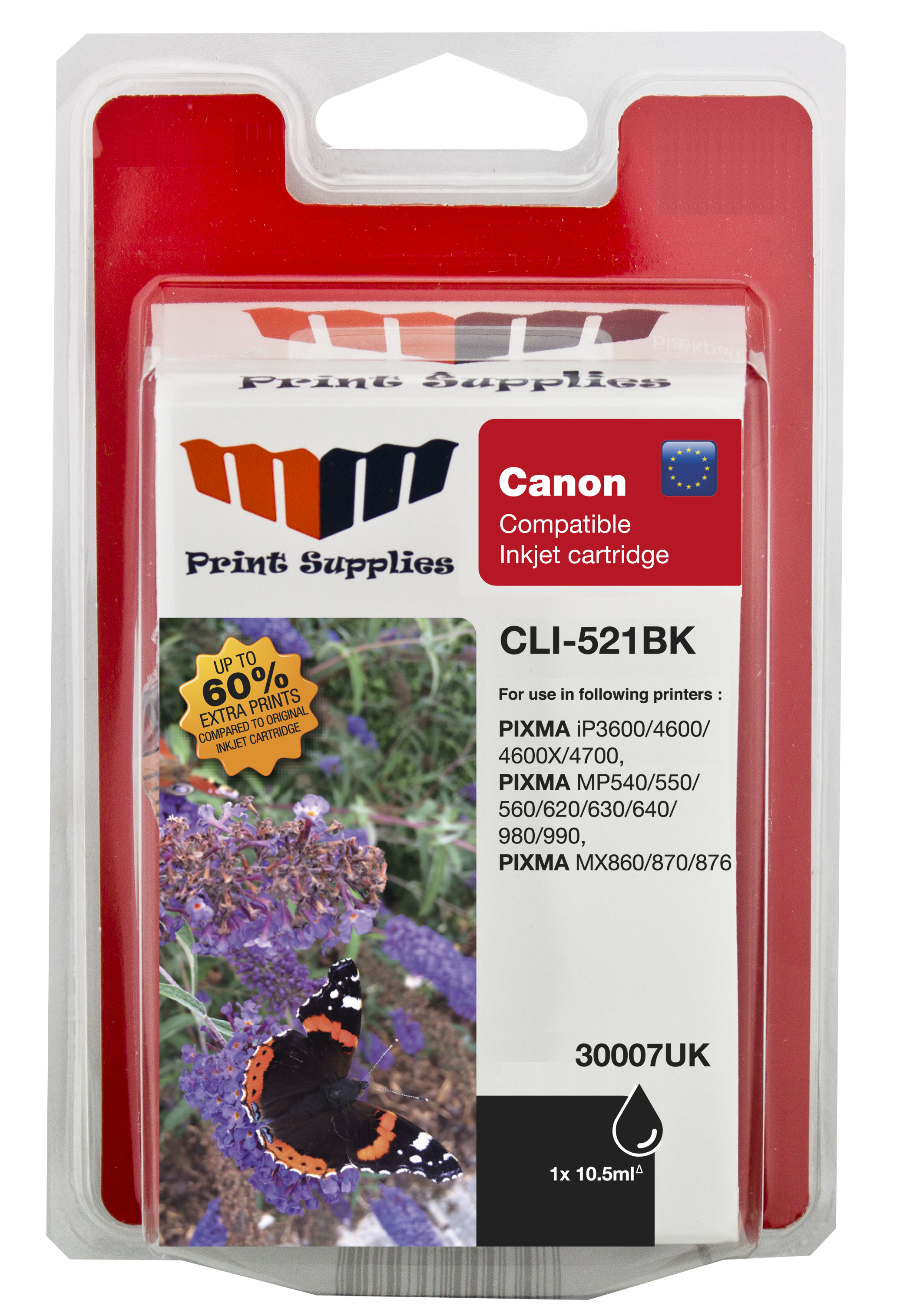 MMPS Black Inkjet Cartridge (CLI-521BK)
