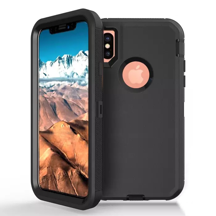 iPhone X Rugged Cover Black