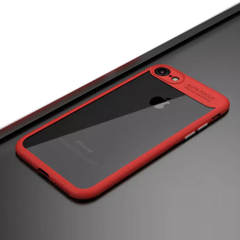 iPhone 8 Shell cover Red and Clear