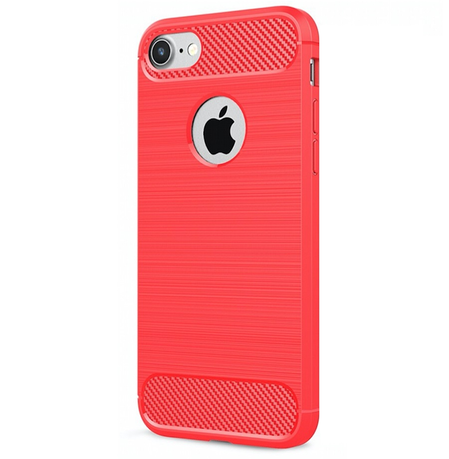 iPhone 7/8 Carbon Silicone Cover Red