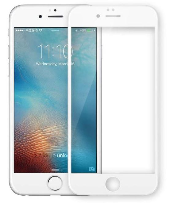 VMax Glass 3D Full Tempered Glass White iPhone 6/6s/7/8