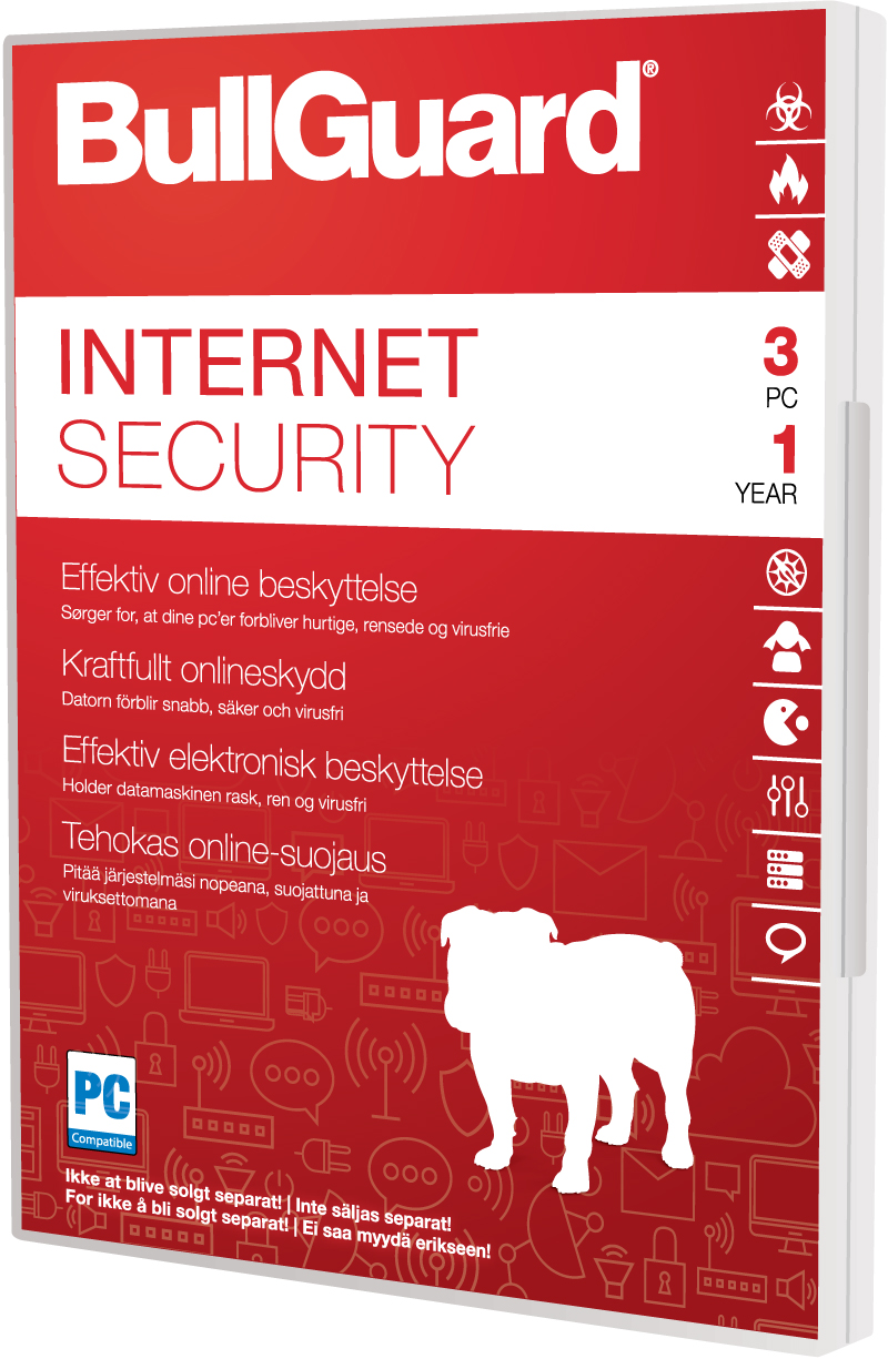 BullGuard Internet Security - Nordic Softbox 1Y/3PC (Carton of 10)