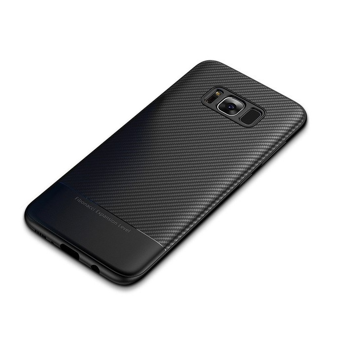 Samsung S9 Cover Soft Silicone Carbon fiber black