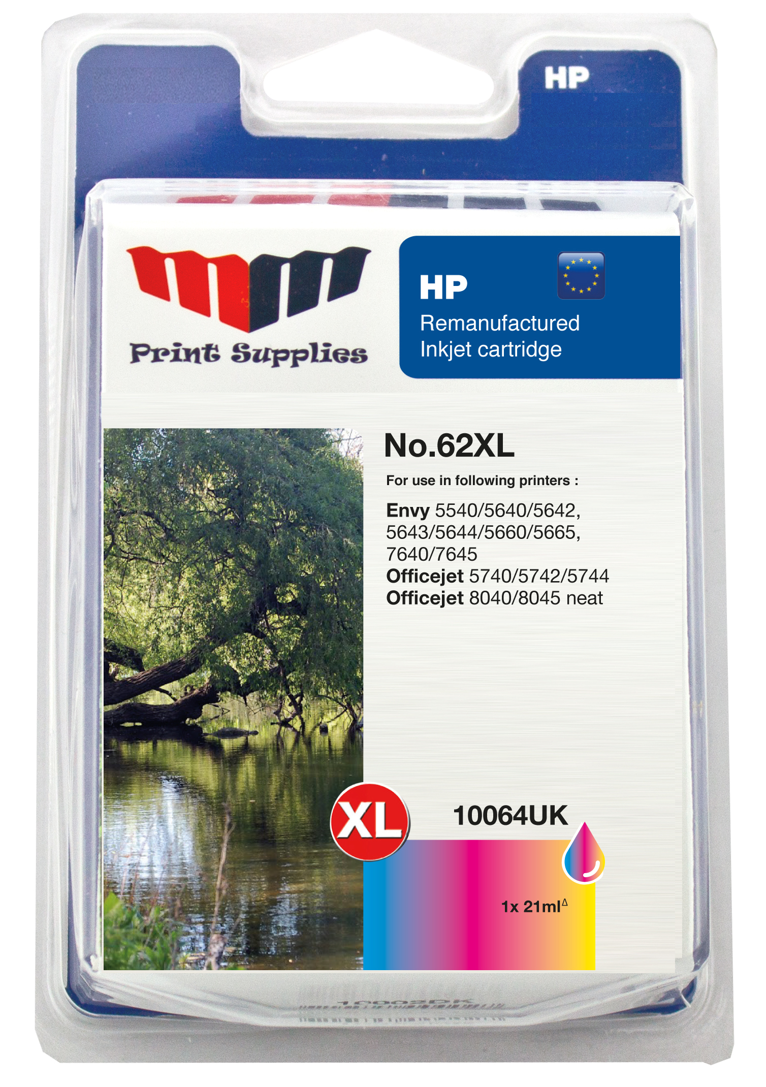 MMPS Color Inkjet Cartridge No.62XL (C2P07AE)