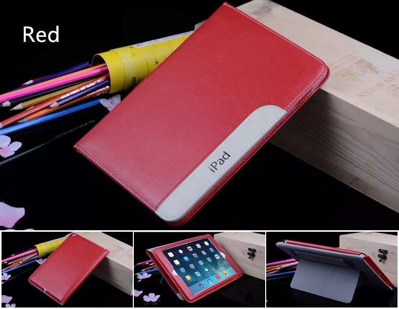 iPad Ultra Thin Slim Smart Cover PU Leather 2017/2018 Red