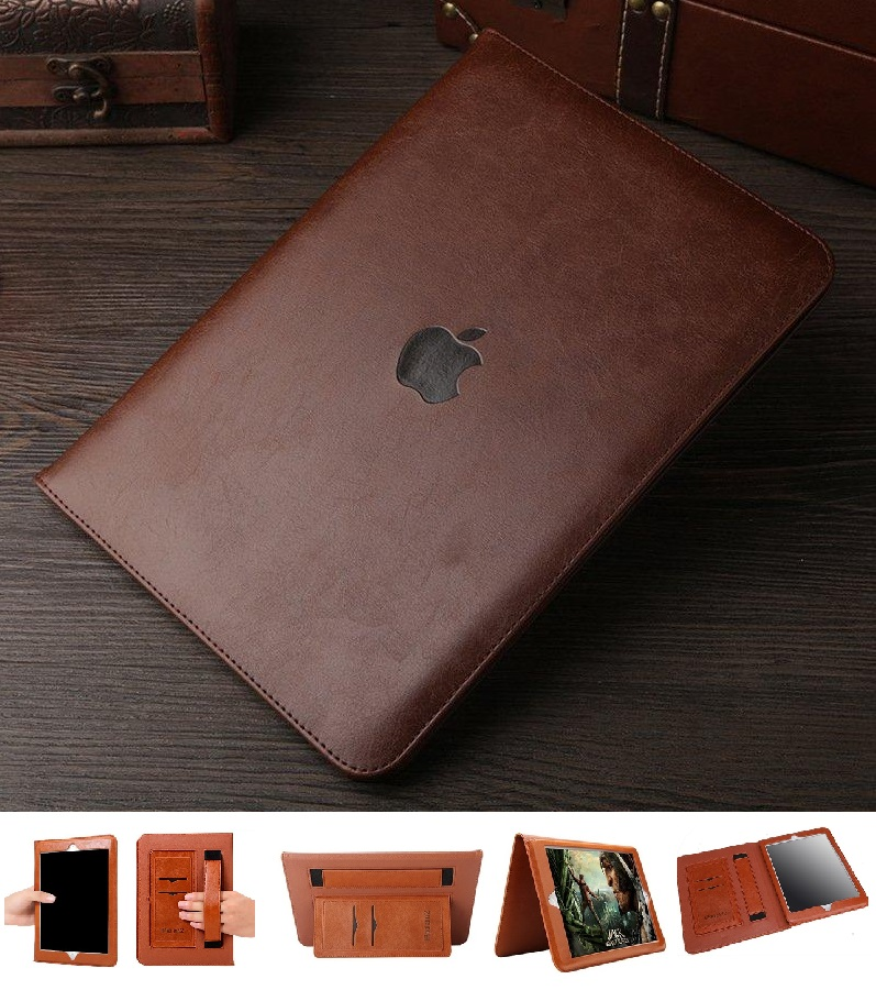 iPad Mini 1 2 3 Full Protection cover PU Leather Coffee
