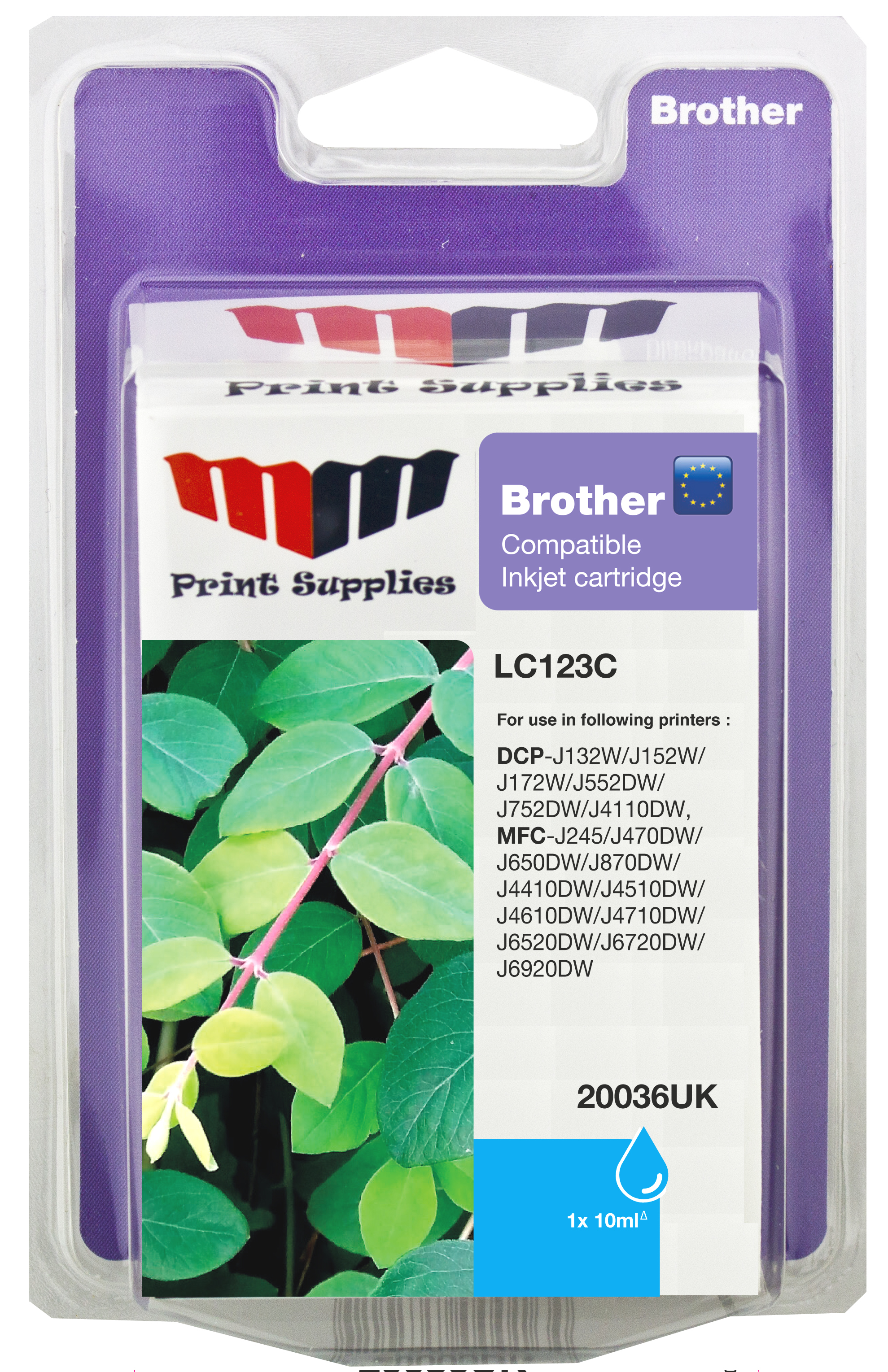 MMPS Cyan Inkjet Cartridge (LC123C)