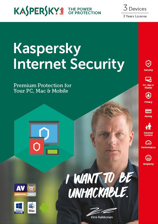 KASPERSKY Internet Security 2017 3User 3Year mini bs no CD Attach (ND)