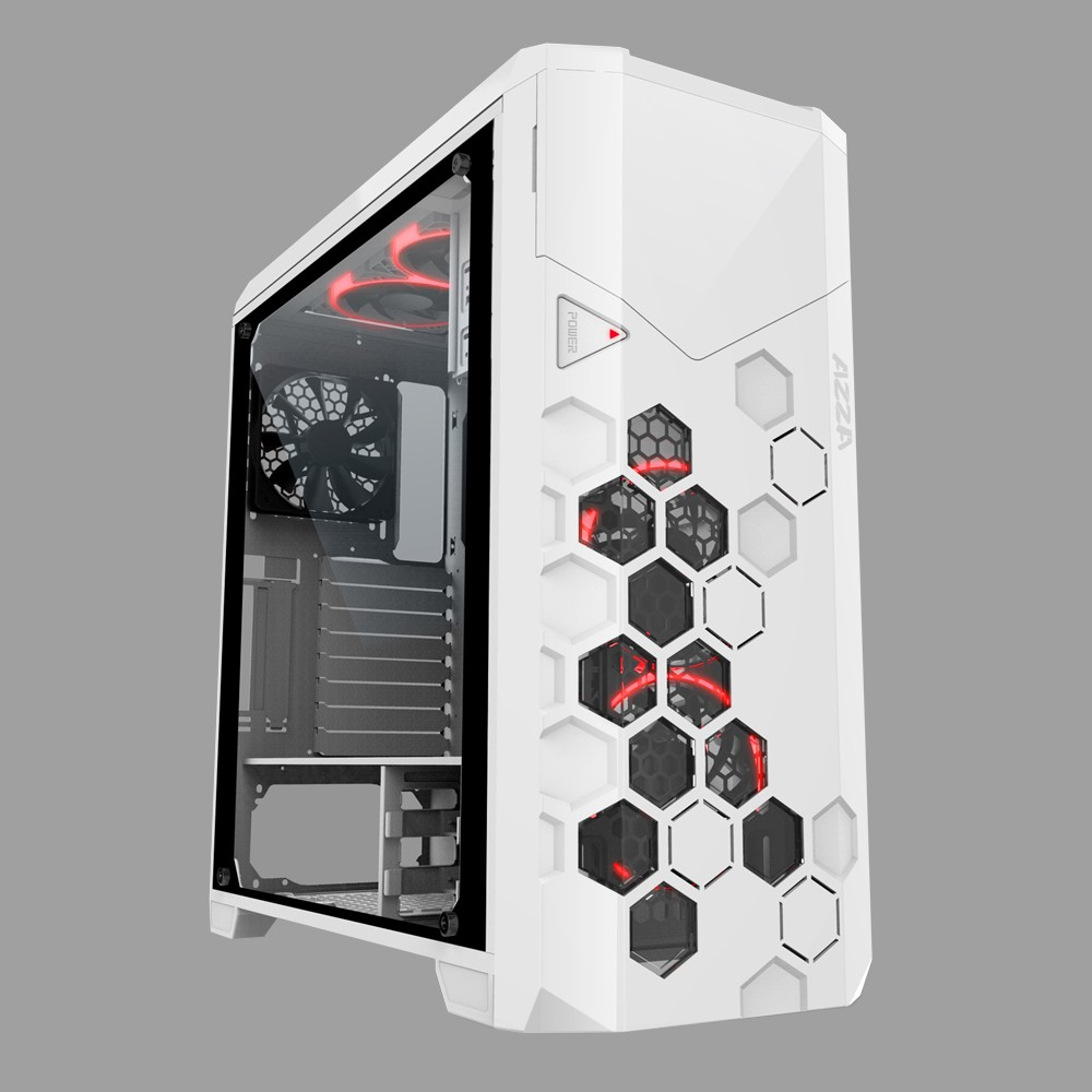 AZZA Storm 6000 Full Tower Gaming White RGB Fans